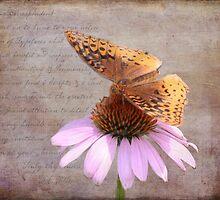 Butterfly and Flower by KJ DeWaal