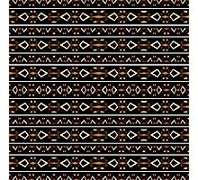 Tribal Dark Aztec Pattern Photographic Print