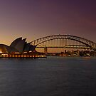 Sydney Opera House Lights Dimmed  As A Tribute To Architect Joern Utzon by DavidIori
