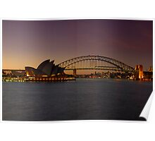 Sydney Opera House Lights Dimmed  As A Tribute To Architect Joern Utzon Poster