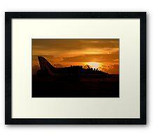 Scampton Sunset  Framed Print
