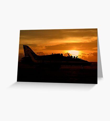 Scampton Sunset  Greeting Card