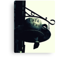 Cafe St-Paul Canvas Print