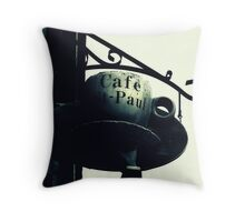 Cafe St-Paul Throw Pillow