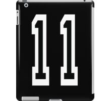 11, TEAM SPORTS NUMBER 11, Eleven, Eleventh, Competition iPad Case/Skin