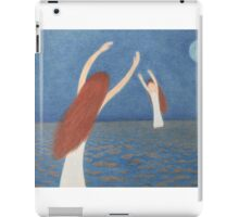 Blue Bridge: Mother, Child,Sea and Moon iPad Case/Skin