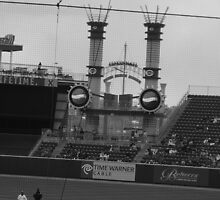 Cincinnati Reds Black and White  by MsLynn