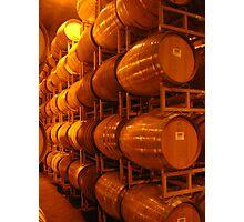 Wine Barrels, Napa 2008 Photographic Print