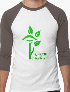 Vegan Enlightened Men's Baseball ¾ T-Shirt