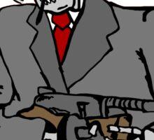 Skull gangster Sticker