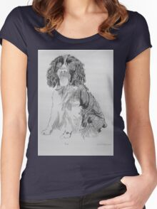Bruce The Springer Women's Fitted Scoop T-Shirt