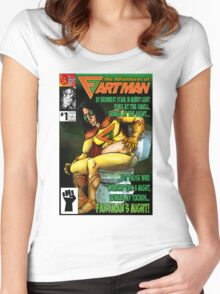 the Adventures of Fartman Women's Fitted Scoop T-Shirt