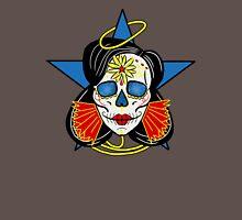 Wonder Woman Sugar Skull Womens Fitted T-Shirt