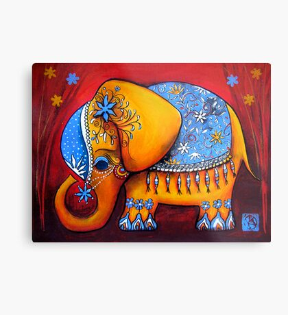 The Littlest Elephant Metal Print