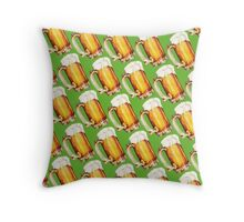 St. Patricks Day - Beer Pattern Throw Pillow