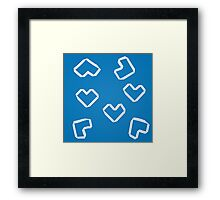 Origami hearts Framed Print
