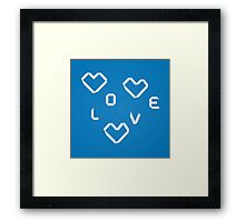 Origami hearts 2 Framed Print