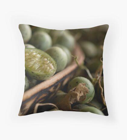 Bush Cucumber Throw Pillow