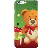 Teddy Bear with Gift Box 3 iPhone Case/Skin
