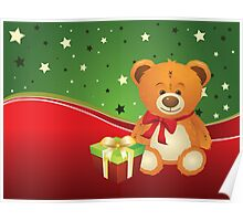 Teddy Bear with Gift Box 3 Poster