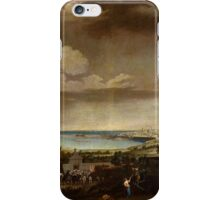 Juan Patricio Morlete Ruiz - View of the Port of Antibes (El puerto de Antibes) iPhone Case/Skin