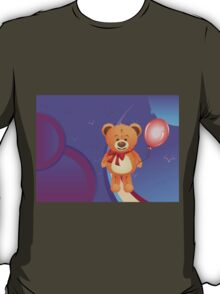 Teddy Bear with Red Bow T-Shirt