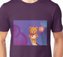 Teddy Bear with Red Bow Unisex T-Shirt
