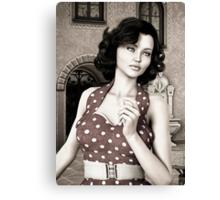 Vintage Woman Canvas Print