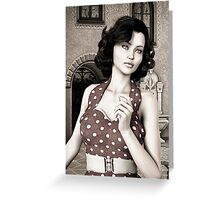 Vintage Woman Greeting Card