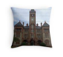 Dewitt Co Courthouse, Cuero, Tx. 1897 Throw Pillow