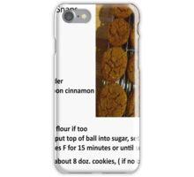Gramma Griz' Ginger Snaps iPhone Case/Skin