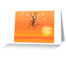 Flying to roost Greeting Card
