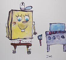 Spongebob Squarepants by Zoe Thomas age 7 by Julia  Thomas