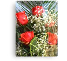 Bouquet with red roses 7 Canvas Print