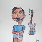 Dad Likes To Play Guitar by Zoe Thomas age 7 by Julia  Thomas