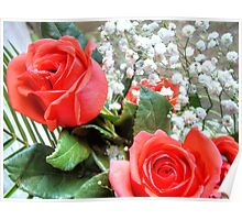 Bouquet with red roses 8 Poster