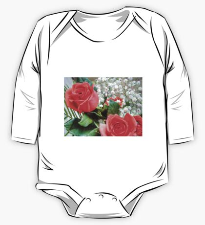 Bouquet with red roses 8 One Piece - Long Sleeve