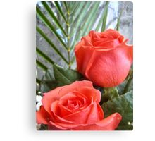 Bouquet with red roses 9 Canvas Print
