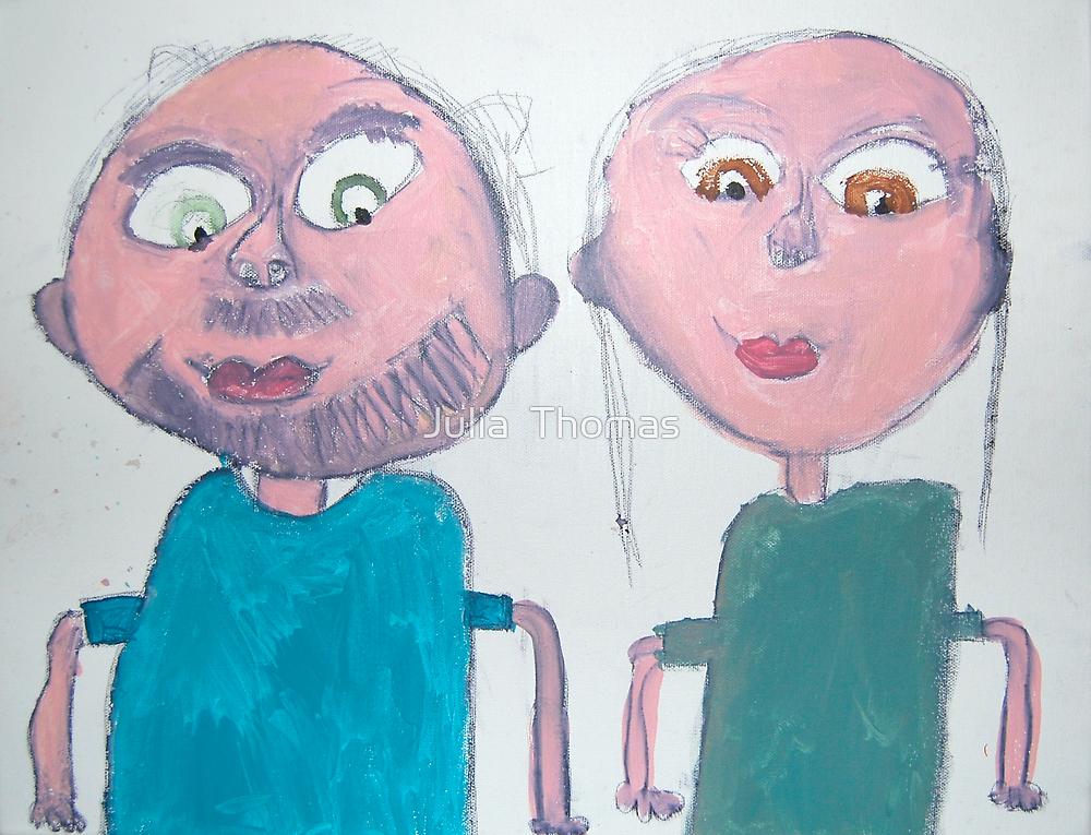 Mum and Dad by Zoe Thomas age 7 by Julia  Thomas