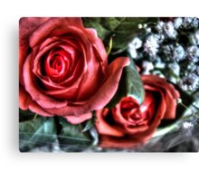 Bouquet with red roses 10 Canvas Print