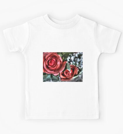 Bouquet with red roses 10 Kids Tee