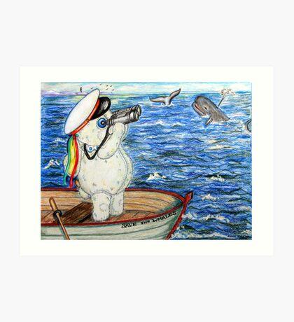 Pooky Saving the Whales Art Print