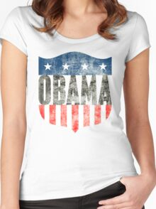 obama : stars & stripes Women's Fitted Scoop T-Shirt