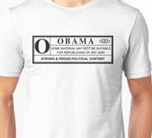 obama warning label Unisex T-Shirt