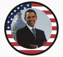 obama : us flag by asyrum