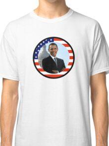 obama : us flag Classic T-Shirt