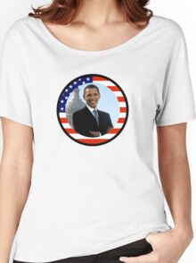 obama : us flag Women's Relaxed Fit T-Shirt