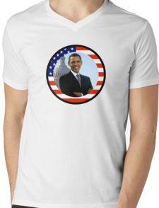 obama : us flag Mens V-Neck T-Shirt