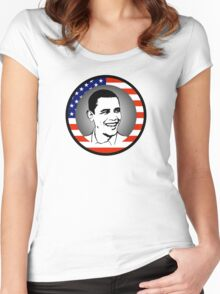 obama : us flag Women's Fitted Scoop T-Shirt