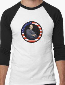 obama : us flag Men's Baseball ¾ T-Shirt
